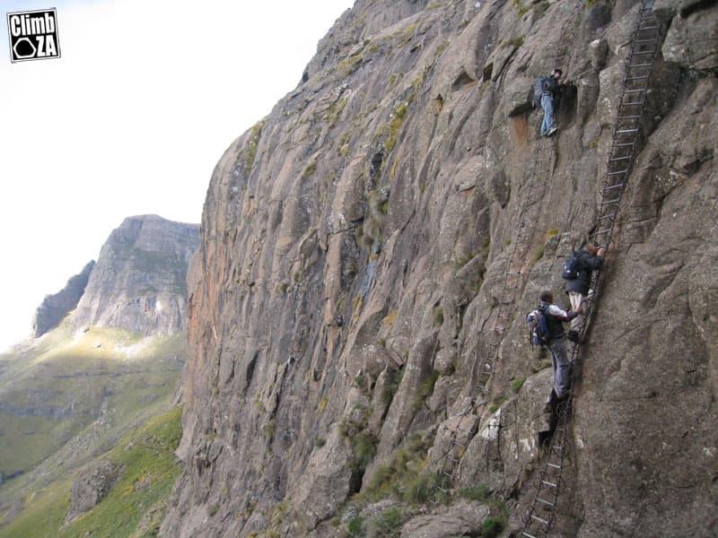 Drakensberg Amphitheatre Scary Chain Ladders