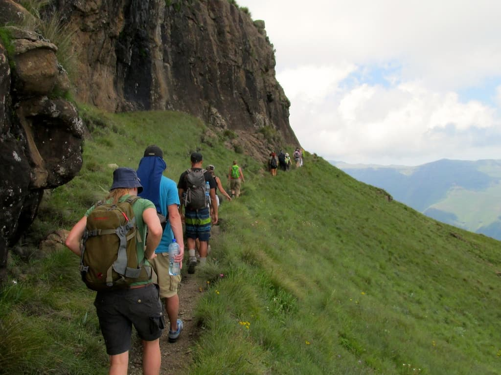 Hiking Drakensberg Amphitheatre Walking Trail