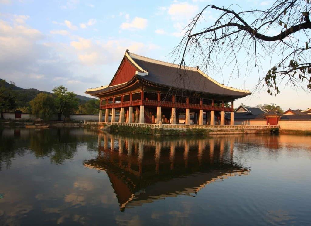 South Korea Temple Water